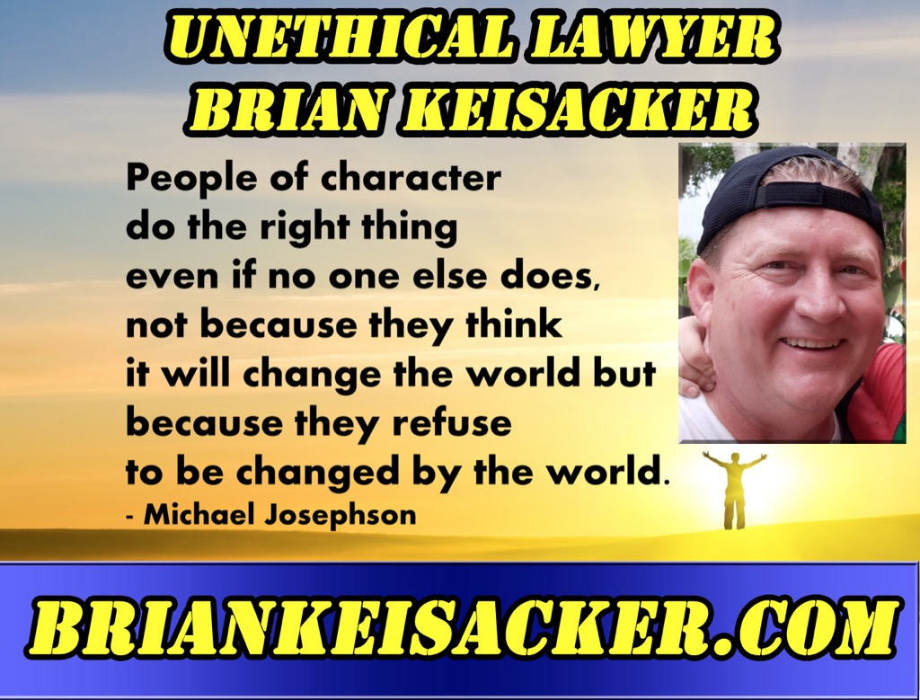 BRIAN D. KEISACKER NO CHARACTER at all