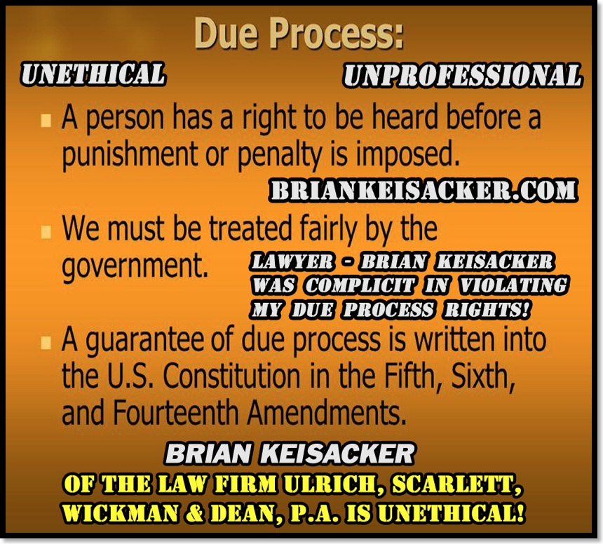 Brian Keisacker Due Process