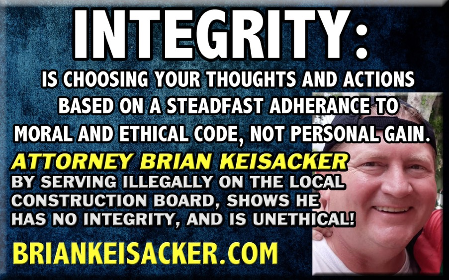 BRIAN KEISACKER INTEGRITY