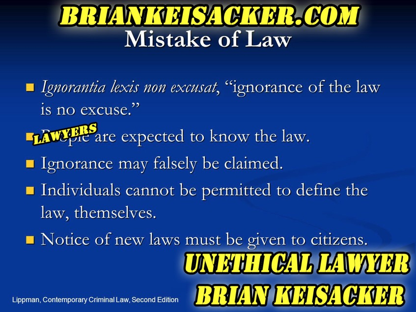 Brian Keisacker Mistake of law copy