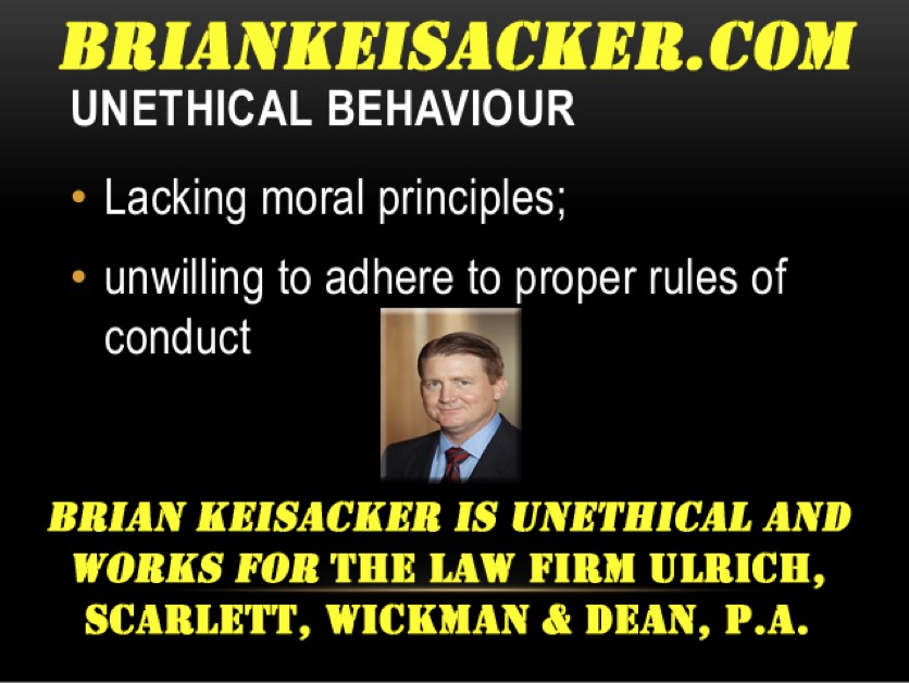 BRIAN KEISACKER UNETHICAL BEHAVIOR 3