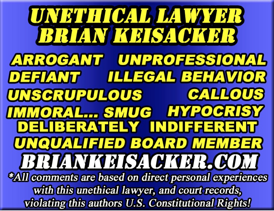 Brian Keisacker wasted law school